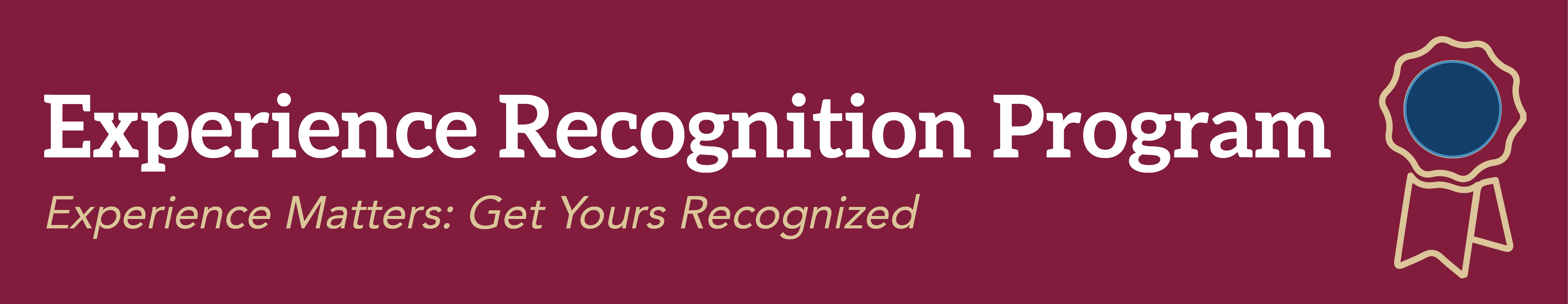 Experience Recognition Program
