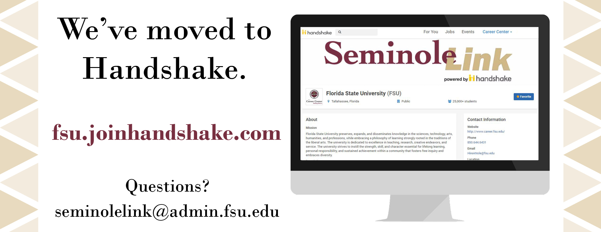 SeminoleLink powered by Handshake